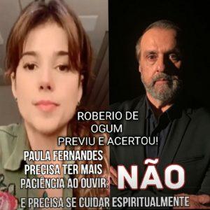 PREVISÕES PARA PAULA FERNANDES