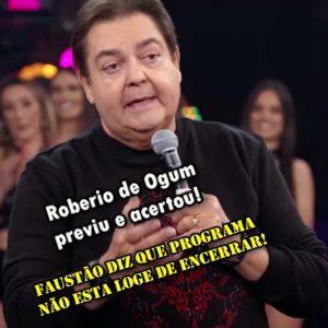 """ROBERIO DE OGUM FAZ PREVISÕES PARA """"FAUSTO SILVA"""" NO PROGRAMA """"A TARDE É SUA"""""""