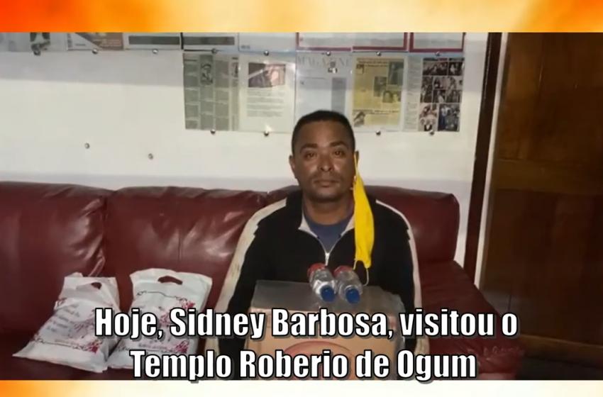 Hoje Sidney Barbosa, visitou o Templo Roberio de Ogum