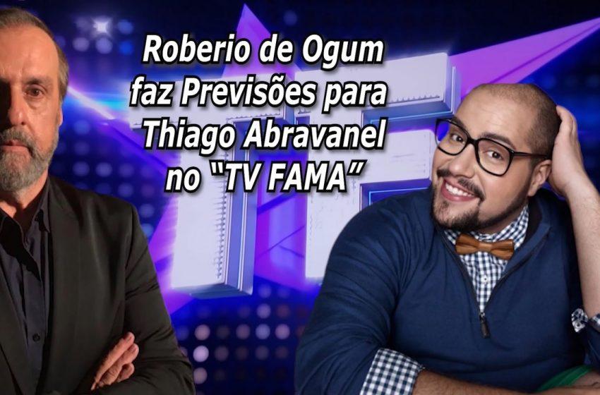 """Roberio de Ogum faz Previsões para Thiago Abravanel no """"TV FAMA"""""""