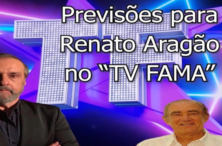 """Roberio de Ogum faz previsões para Renato Aragão no """"Programa TVFAMA"""" da RedeTV"""