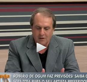 Robério de Ogum faz previsões para os famosos em 2014 Na Tarde e Sua.