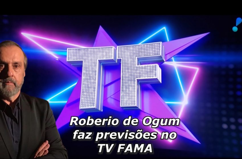 """Roberio de Ogum faz previsões para famosos no """"Programa TV FAMA"""" da REDE TV"""