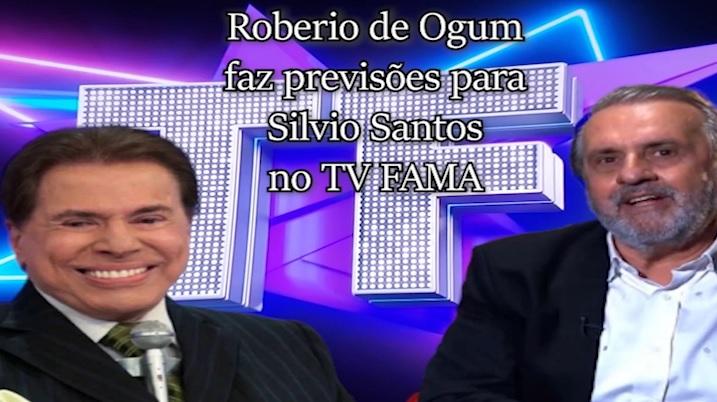"""Roberio de Ogum faz previsões para Silvio Santos no """"TVFAMA"""""""
