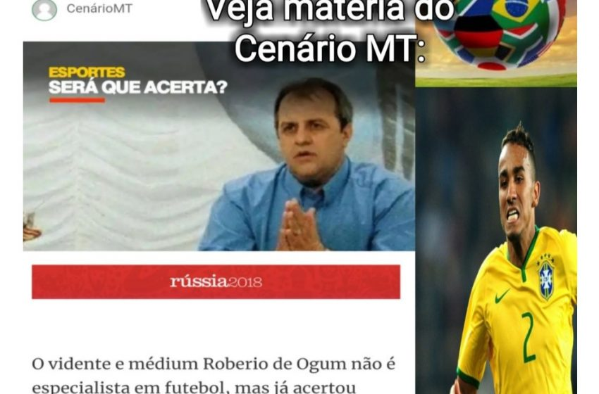 ROBERIO DE OGUM ACERTA DE NOVO: DANILO CORTADO DA COPA